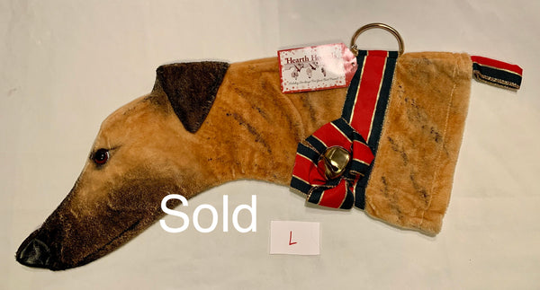 Greyhound Dog Christmas Stocking (tan and brindle)