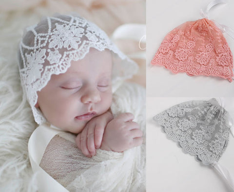 Exquisite Lace Bonnet for New Born
