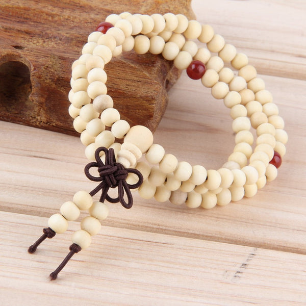 Sandalwood 108 Beads Meditation Mala & Bracelet  For Women Men