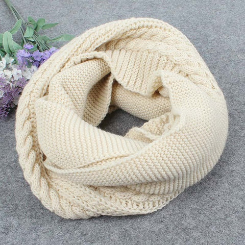 Cable Knit Infinity Scarf - 2017 Autumn Winter Chic Trend - FREE SHIPPING