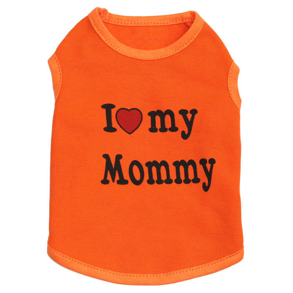 I love Mommy Shirt for Small Pet