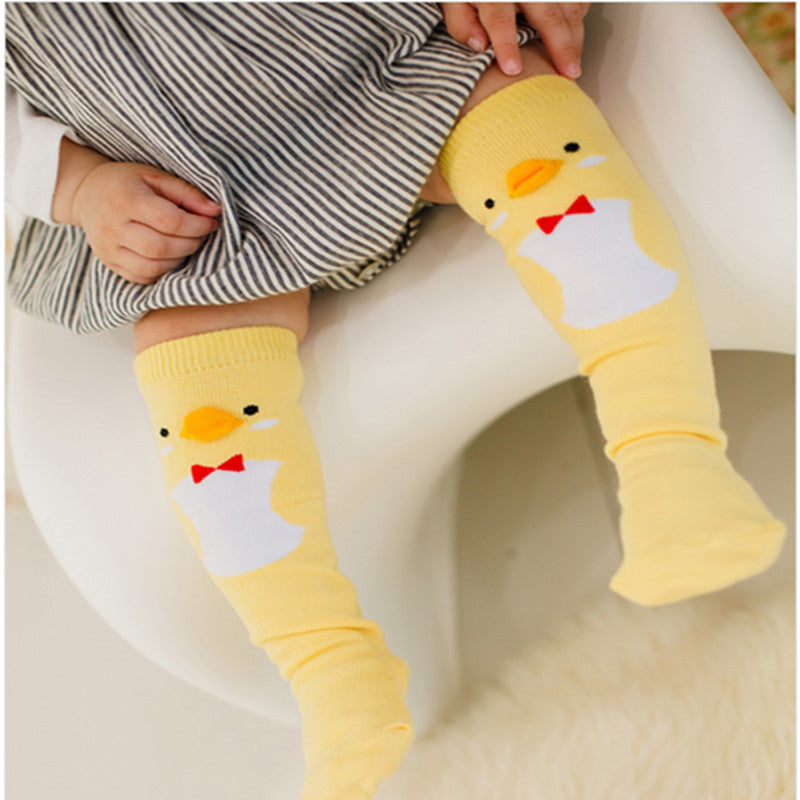 Penguin and Duck Pattern Cotton Leg Warmers for Girls and Boys