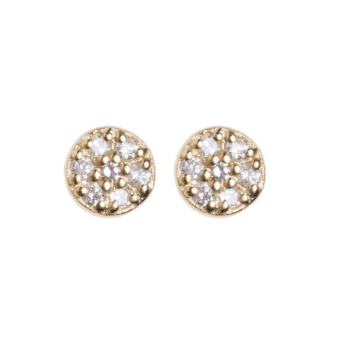 Diamond Dot Stud Earrings