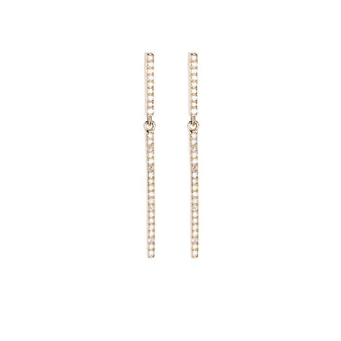 Medium Diamond Bar Earrings