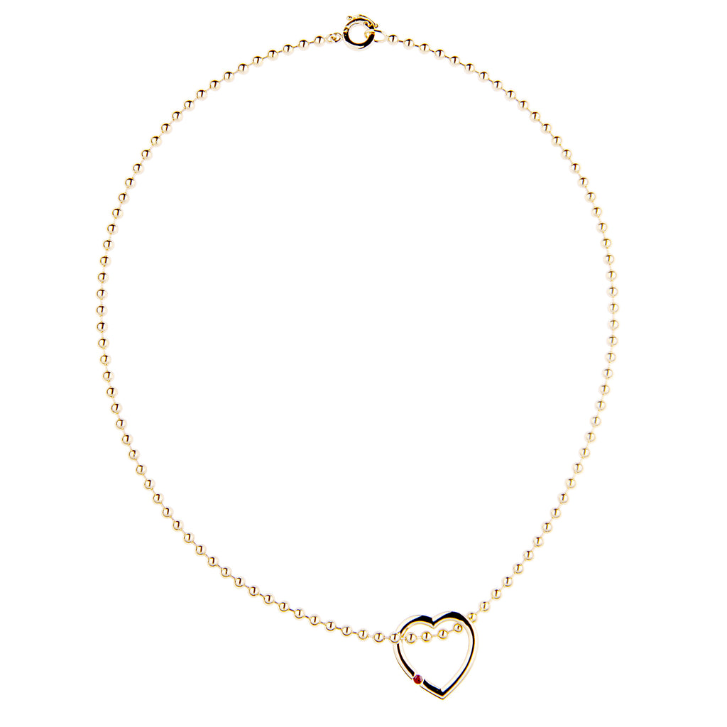 Large Gold Floating Eternity Heart Charm