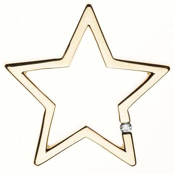 Large Gold Floating Star Charm