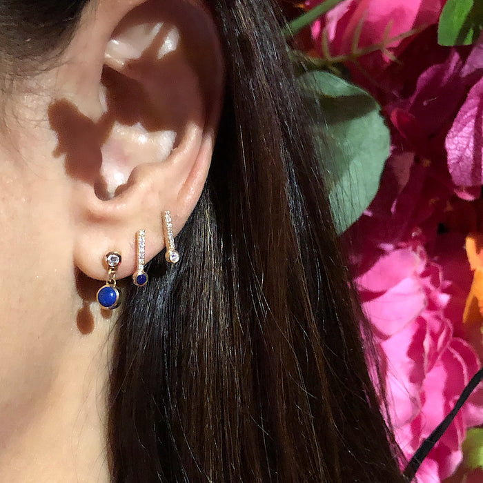 Diamond and Lapis Sticks & Stones Stud Earring