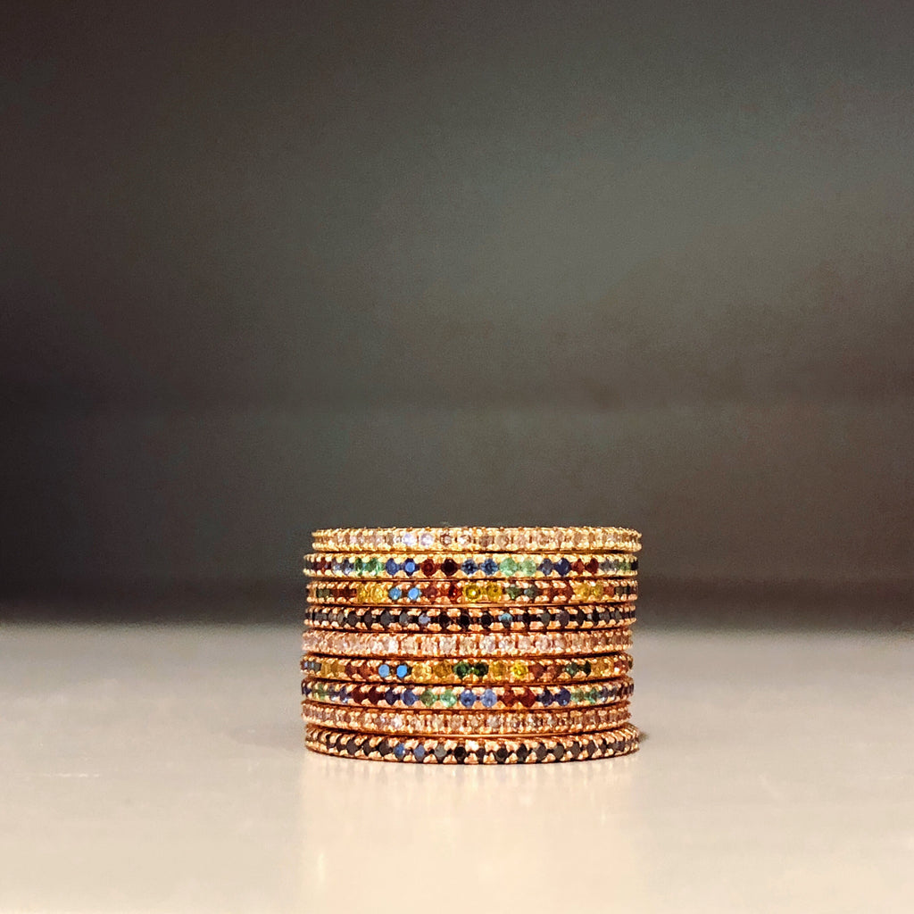 Rainbow Eternity Stacking Bands