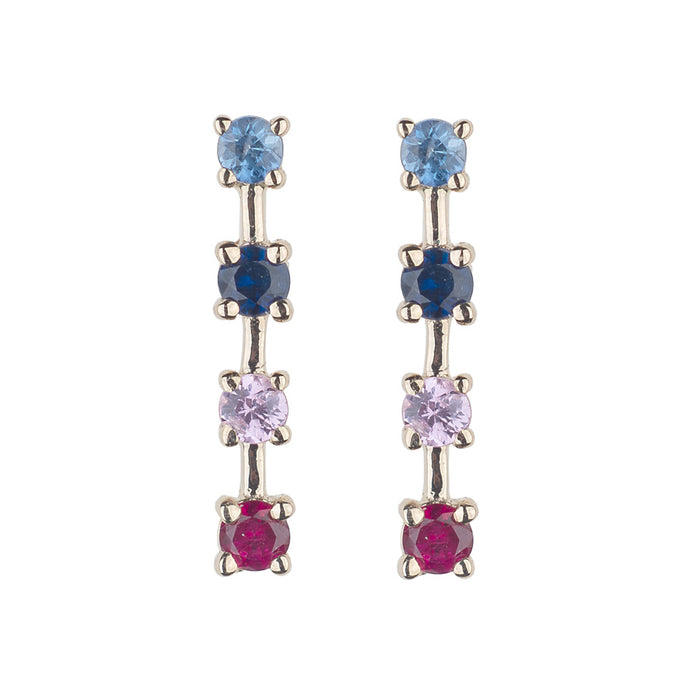 Berry Blues Sparkling Sugar Stud Earring