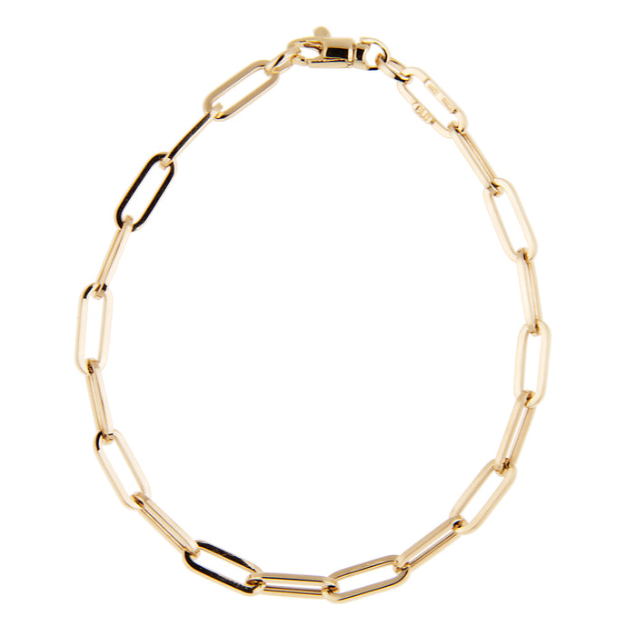 Small Link Paperclip Chain Bracelet