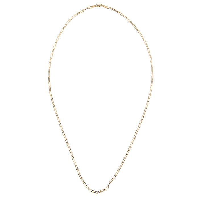Extra Small Link Paperclip Chain 20""