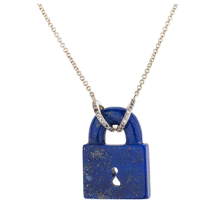 Gemstone Padlock Necklace