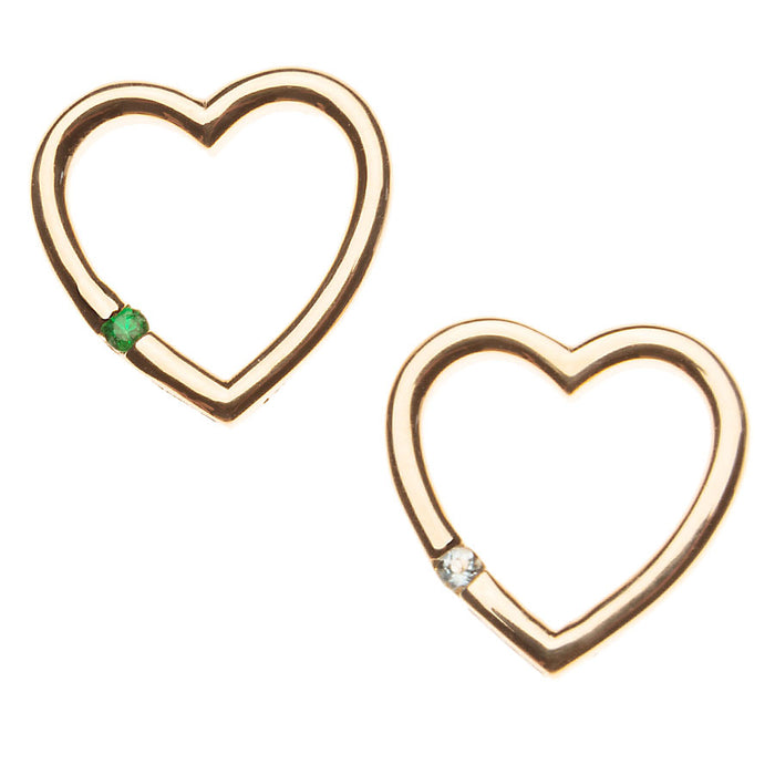 Small Gold Floating Eternity Heart Charm