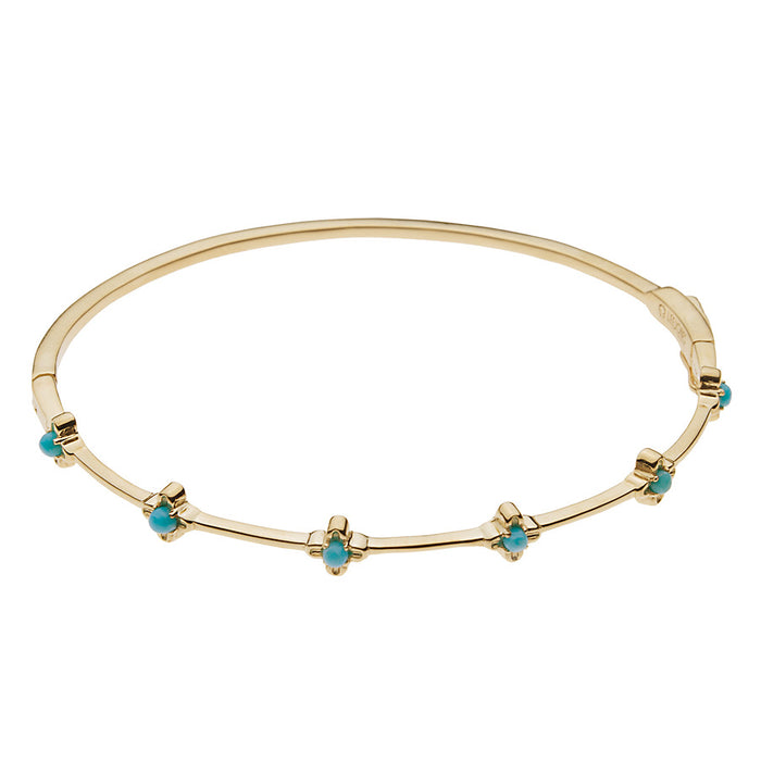 Turquoise Bloom Bangle Bracelet