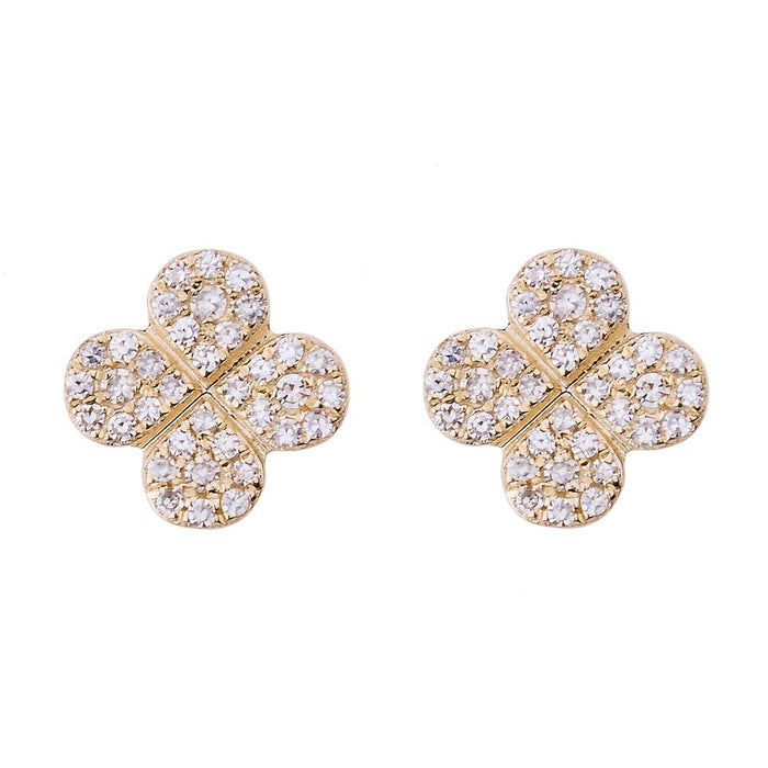 Bloom Pave Diamond Stud Earrings