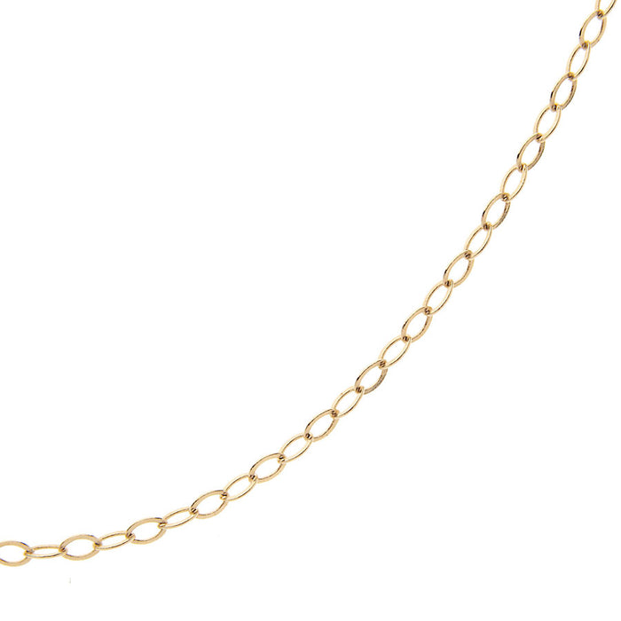 Small Flat Cable Chain in 14 karat gold