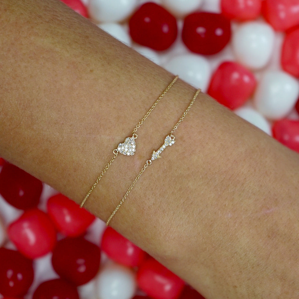 Tiny Arrow Charm Bracelet