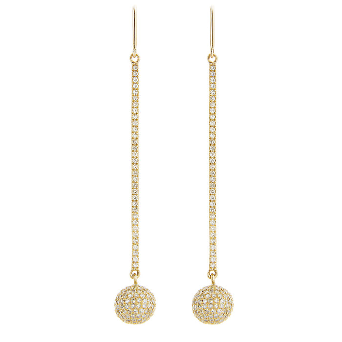 Diamond Candy Bar & Diamond BonBon Dangle Earrings