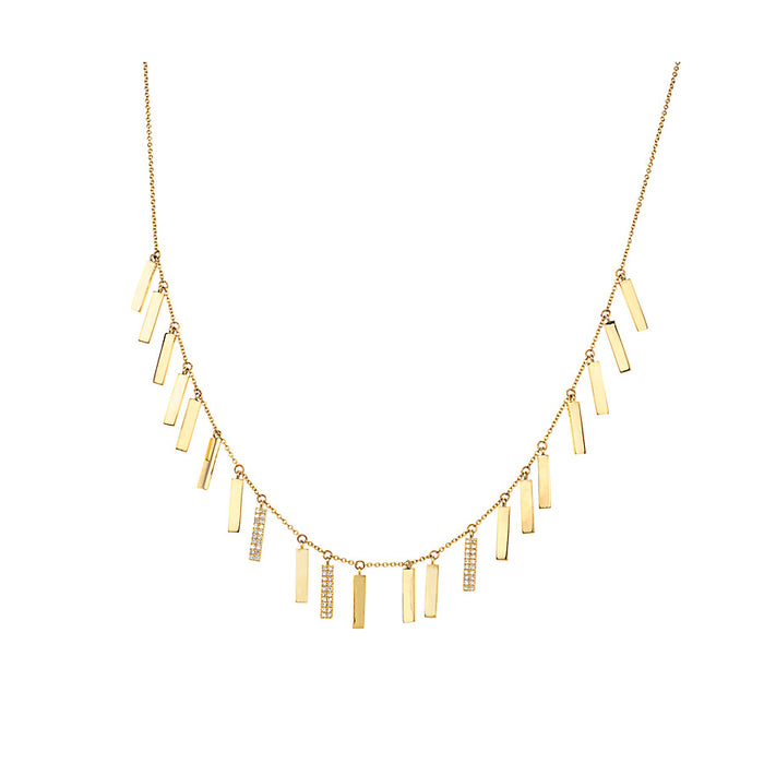 Diamond & Gold Candy Bar Necklace