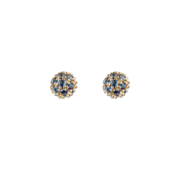 Blue Sapphire Tiny BonBon Stud Earrings