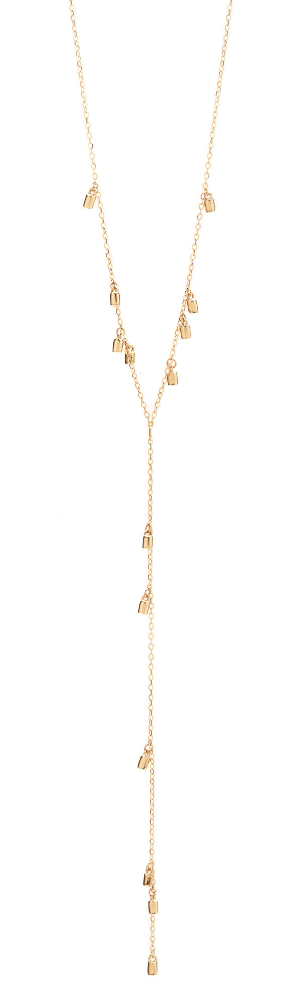 Gold Fairy Dust Lariat Necklace