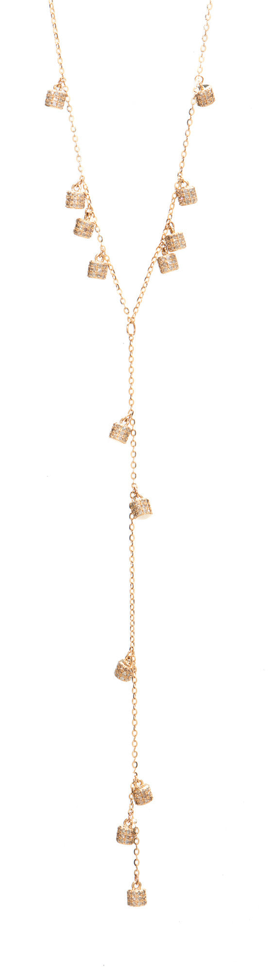 Diamond Fairy Dust Lariat Necklace