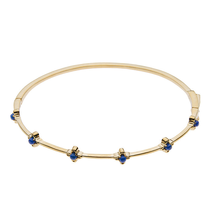 Lapis Bloom Bangle Bracelet