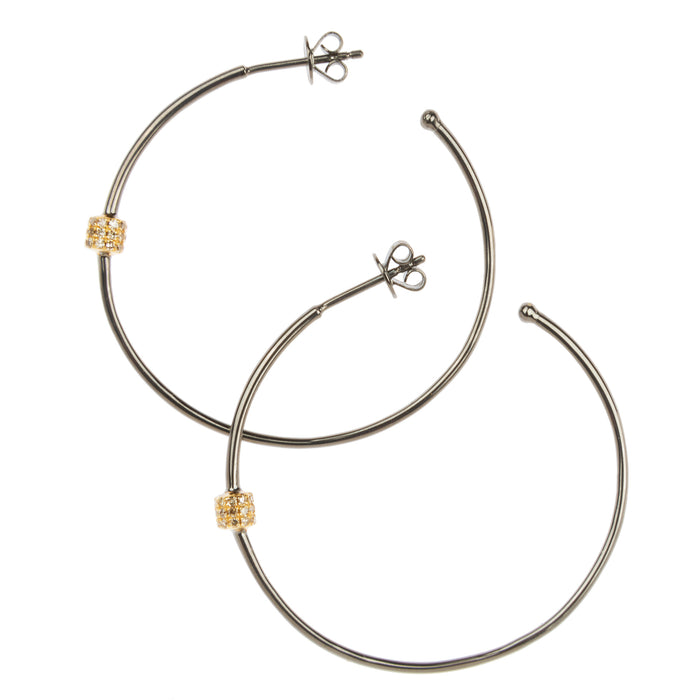 Small Mixed Metal Fairy Dust Hoops