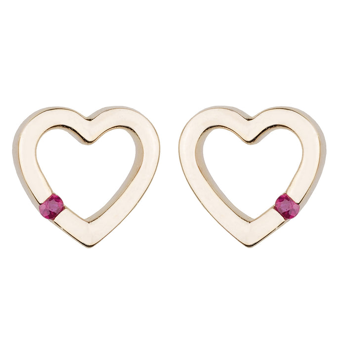 Tiny Open Heart Stud Earring