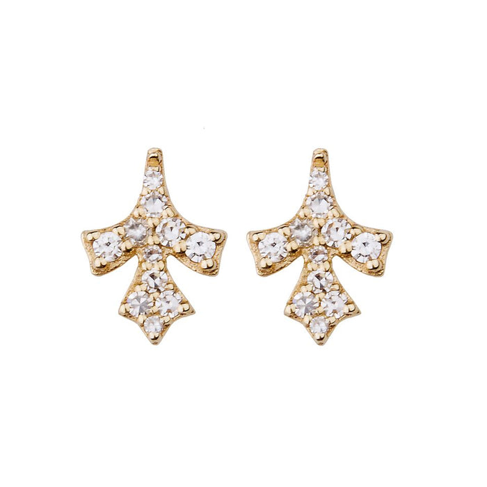 Petal Pave Diamond Stud Earring