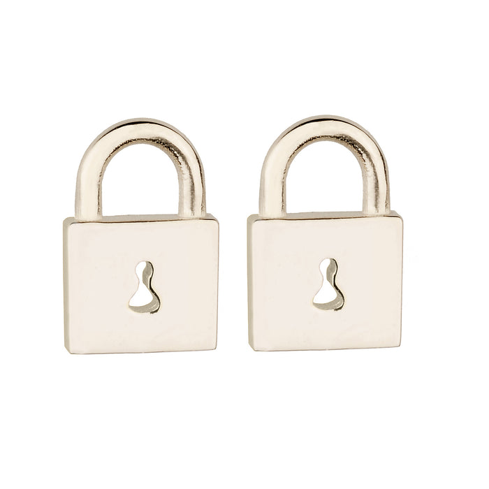 Tiny Gold Padlock Stud Earring