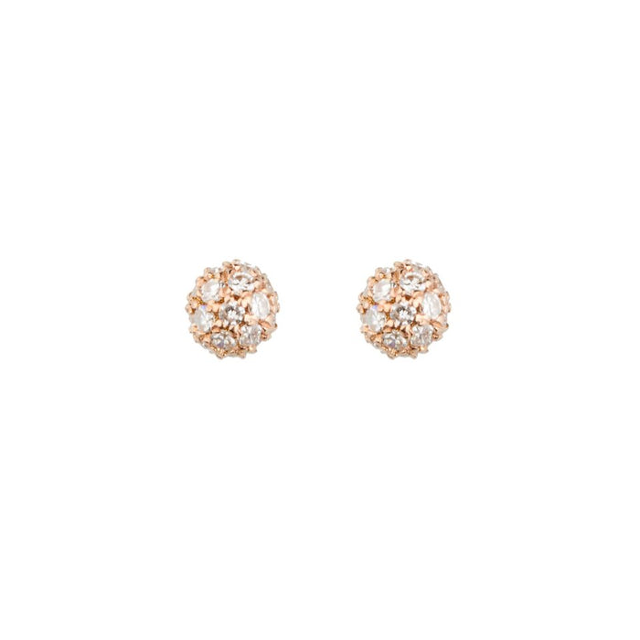 Diamond Tiny BonBon Stud Earrings
