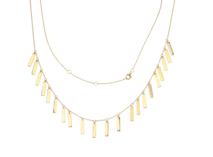 Gold Candy Bar Necklace