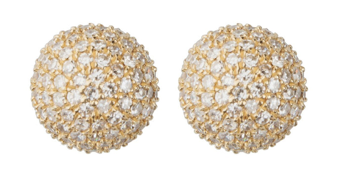 Diamond BonBon Stud Earrings