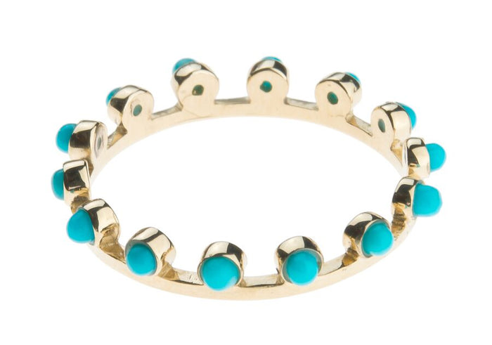 Turquoise Candy Crown Ring