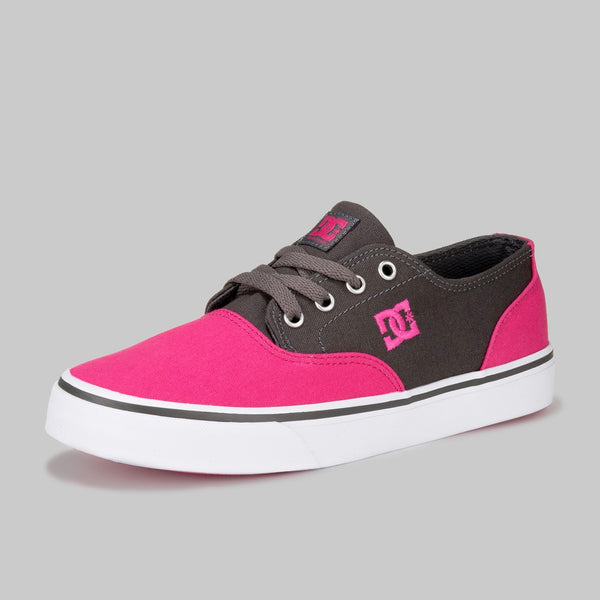 DC SHOES FLASH 2 TENIS DAMA GRIS ROSA