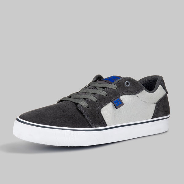 DC SHOES ANVIL MX TENIS CABALLERO GRIS GAMUZA