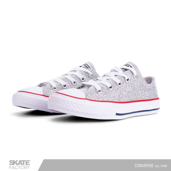 CONVERSE TENIS NIÑA ALL STAR PLATA