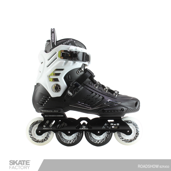 PATINES PROFESIONALES FREESTYLE RX5 SLALOM COLOR NEGRO BLANCO