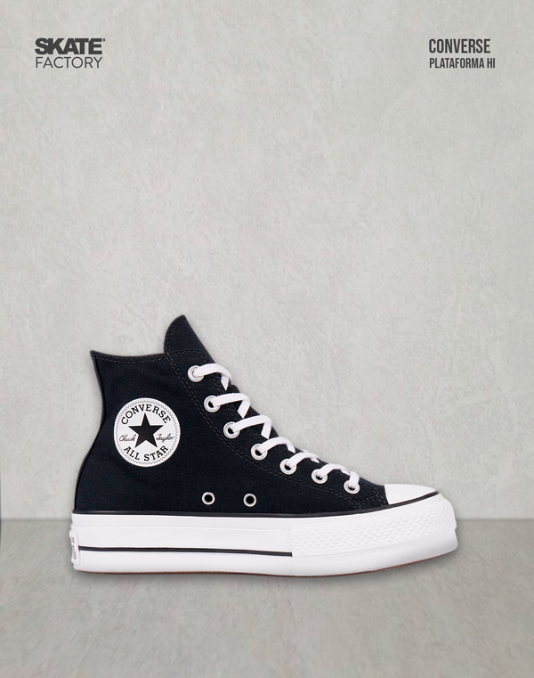 CONVERSE BOTA PLATAFORMA ALL STAR LIFT HI NEGRO