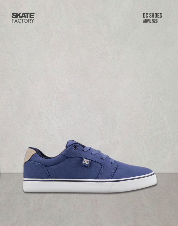 DC SHOES ANVIL TENIS CABALLERO AZUL BEIGE