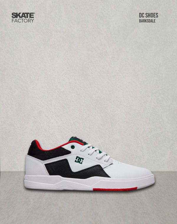 DC SHOES BARKSDALE TENIS CABALLERO BLANCO NEGRO