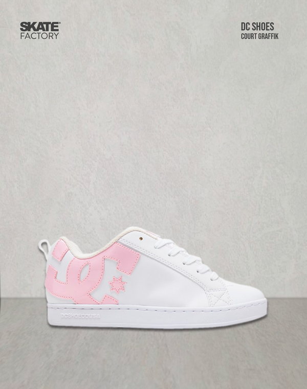 DC SHOES COURT GRAFFIK TENIS DAMA BLANCO ROSA