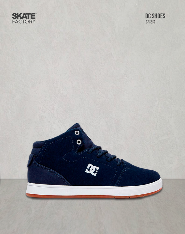DC SHOES CRISIS HIGH TENIS NIÑO MARINO