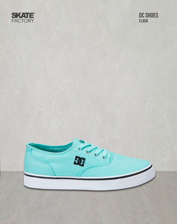 DC SHOES FLASH TENIS DAMA MENTA NEGRO