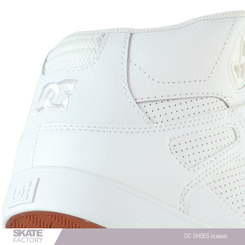 DC SHOES PURE HI TOP TENIS CABALLERO BLANCO PIEL