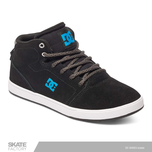 DC SHOES CRISIS HIGH TENIS NIÑO NEGRO AZUL
