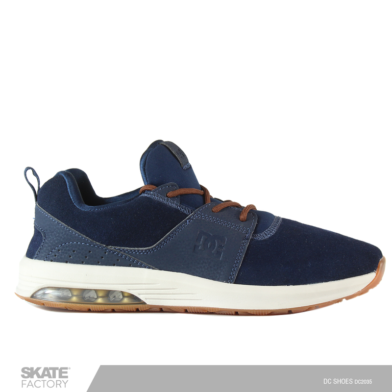 DC SHOES HEATHROW TENIS CABALLERO MARINO GAMUZA