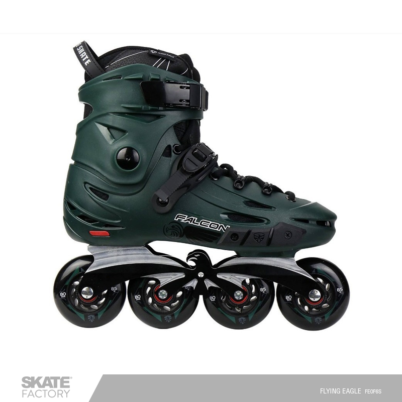 PATINES EN LINEA FLYING EAGLE COLOR VERDE,NEGRO