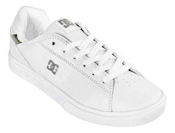 DC SHOES NOTCH TENIS DAMA BLANCO PLATA